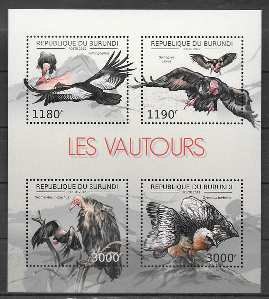 filatelia fauna Burundi 2012