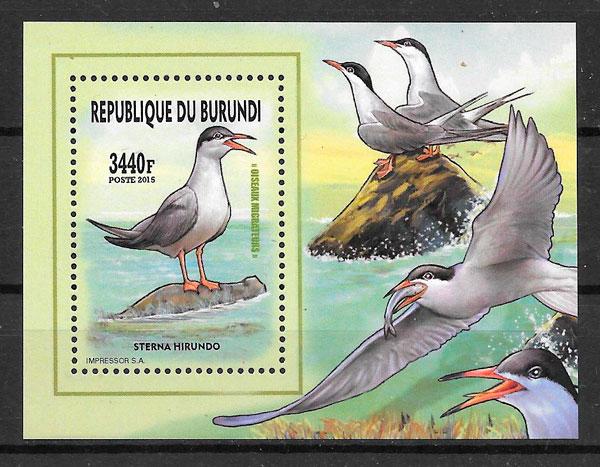 filatelia fauna Burundi 2016