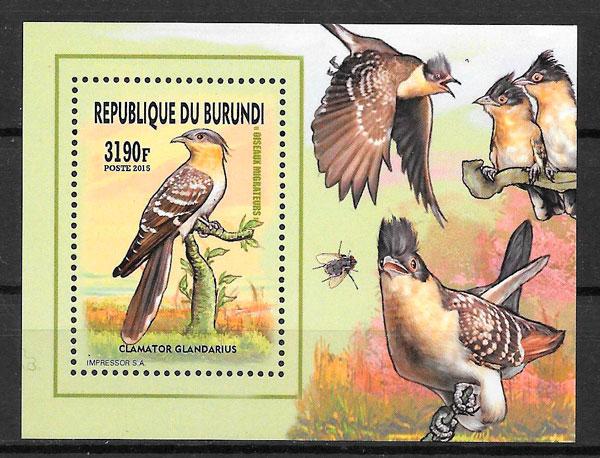 colección sellos fauna Burundi 2016