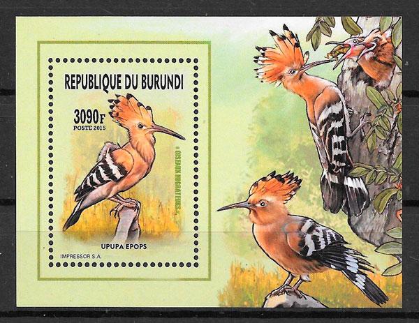 sellos fauna Burundi 2016