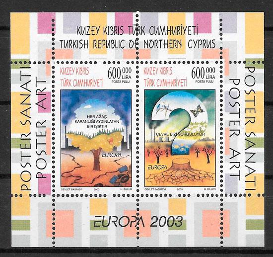 colección sellos Europa Chipre Turko 2003