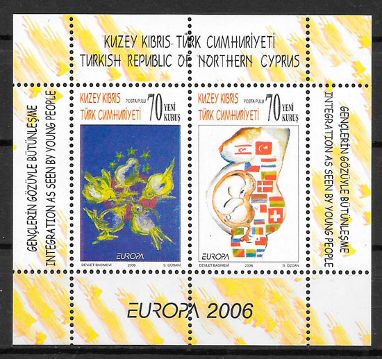 colección sellos Europa Chipre Turko 2006