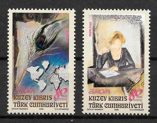 colección sellos Europa Chipre Turko 2008