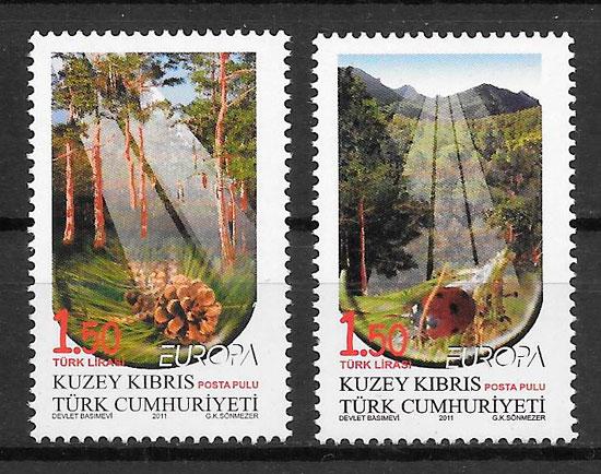 sellos Europa Chipre Turko 2011