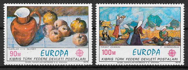 sellos Europa Chipre Turco 1975