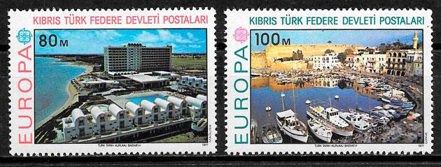 sellos Europa Chipre Turco 1977