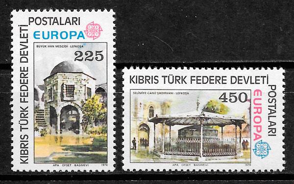 sellos Europa Chipre Turco 1978