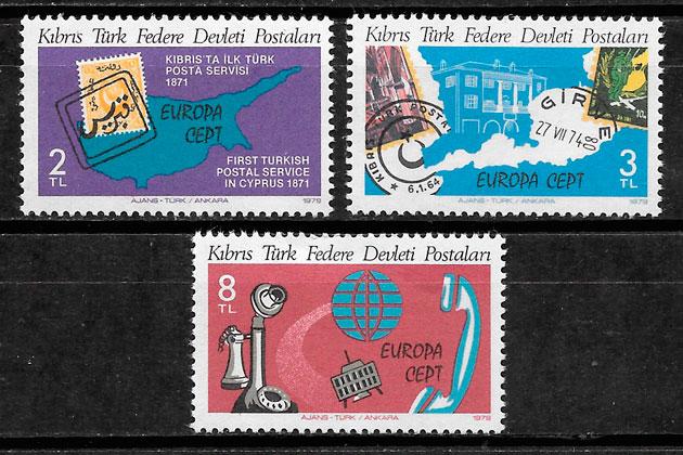 sellos Europa Chipre Turco 1979