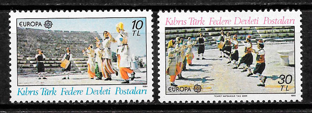 filatelia Europa Chipre Turco 1981