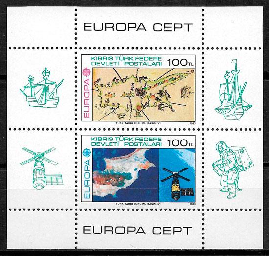 filatelia colección Europa Chipre Turco 1983