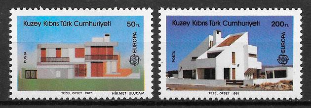 filatelia colección Europa Chipre Turco 1987