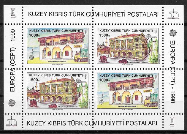 sellos Europa Chipre Turco 1990