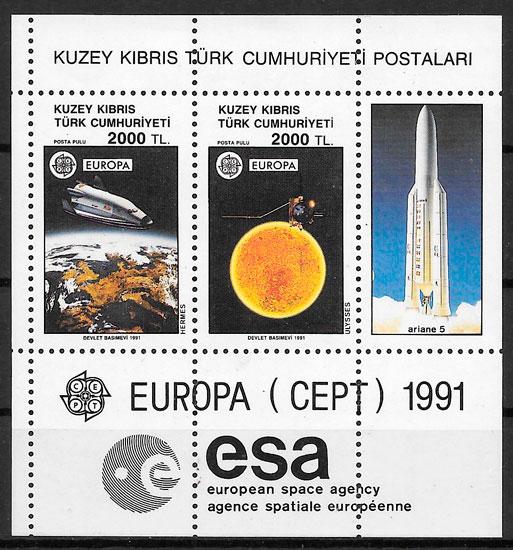sellos Europa Chipre Turco 1991