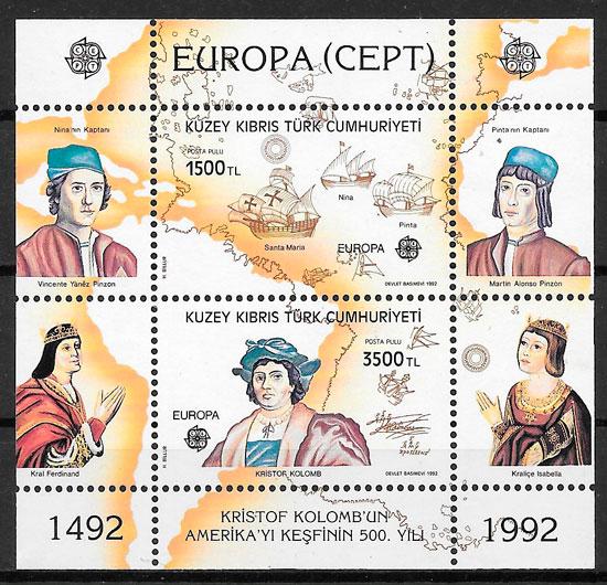 sellos Europa Chipre Turco 1992