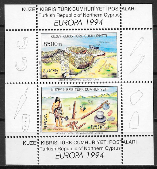 colección sellos Europa Chipre Turco 1994