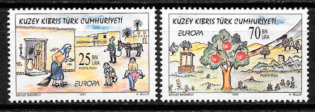 filatelia colección Europa Chipre Turco 1997