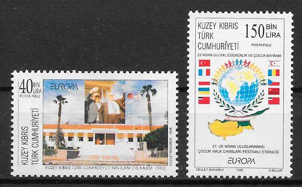 colección sellos Europa Chripre Turco 1998