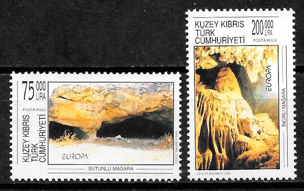 filatelia colección Europa Chipre Turco 1999