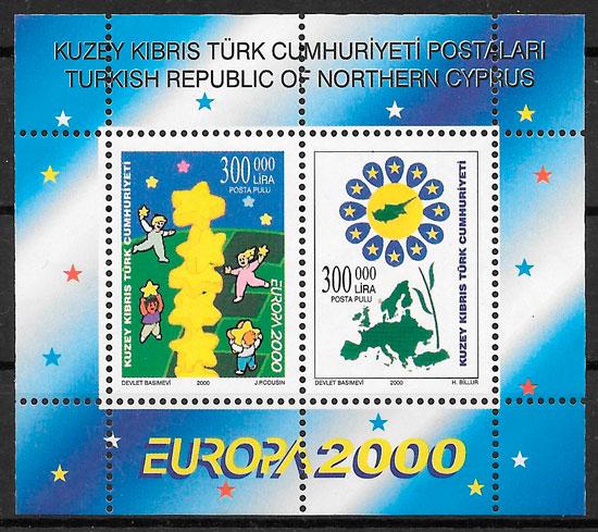 filatelia colección Europa Chipre Turco 2000