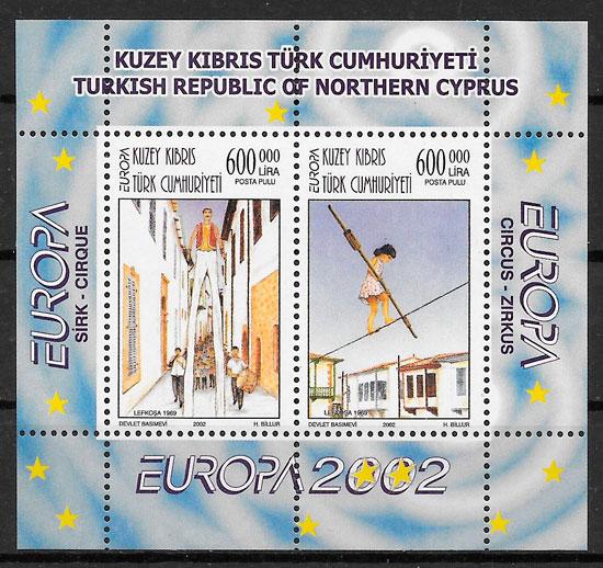 filatelia colección Europa Chipre Turco 2002
