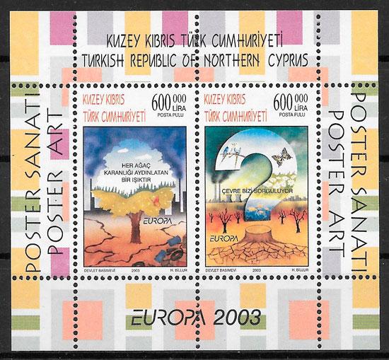 filatelia colección Europa Chipre Turco 2003