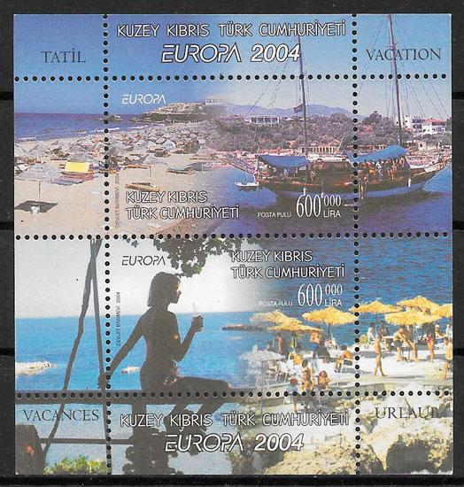 colección selos Europa Chipre Turco 2004