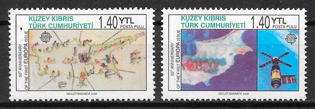 filatelia colección Europa 2006 Chipre Turco