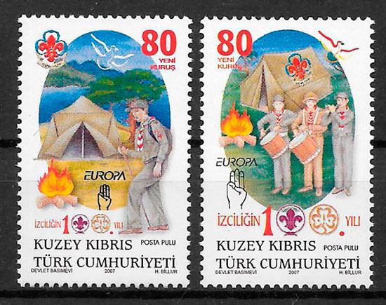 filatelia colección Europa Chipre Turco 2007