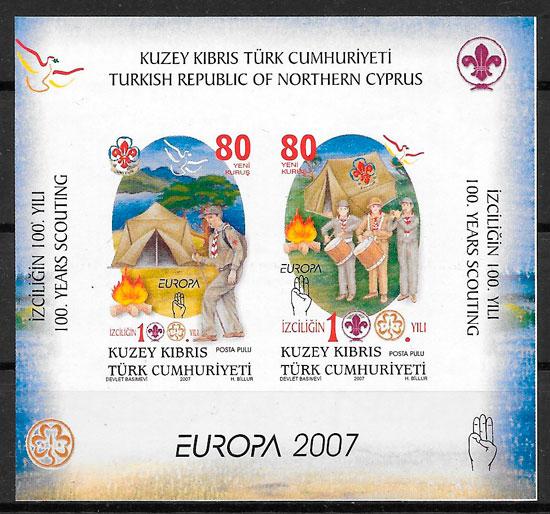 colección sello Europa Chipre Turco 2007