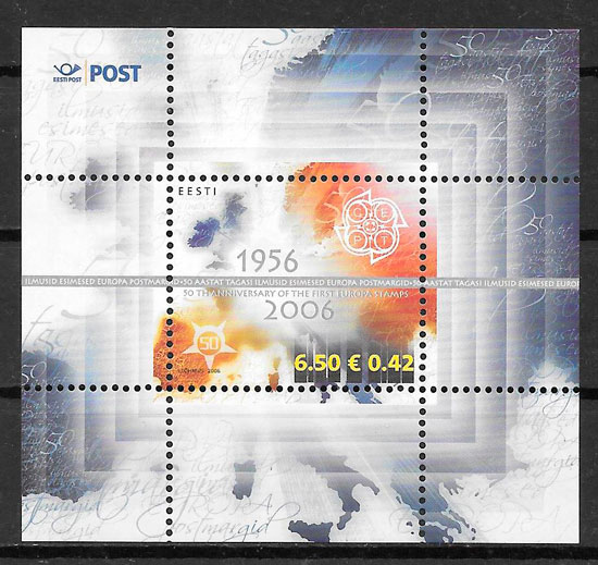 filatelia colección Europa Estonia 2006