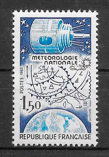 filatelia espacio Francia 1983