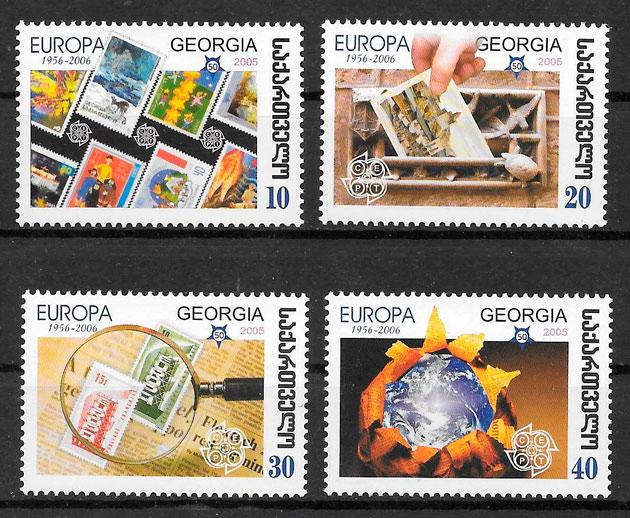 colección sellos Europa Georgia 2006