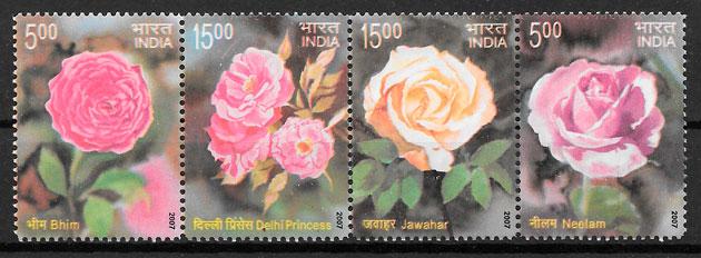 sellos rosas India 2007