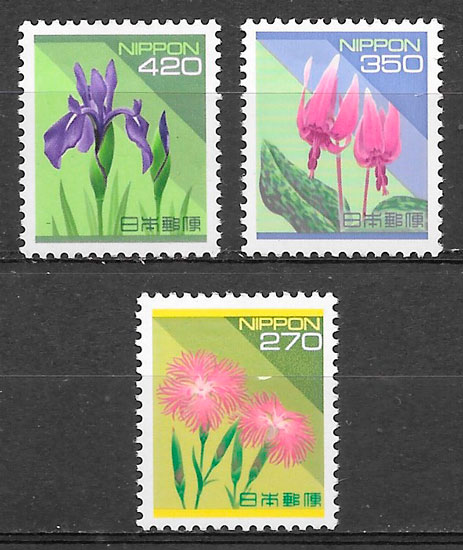 filatelia flora Japon 1994