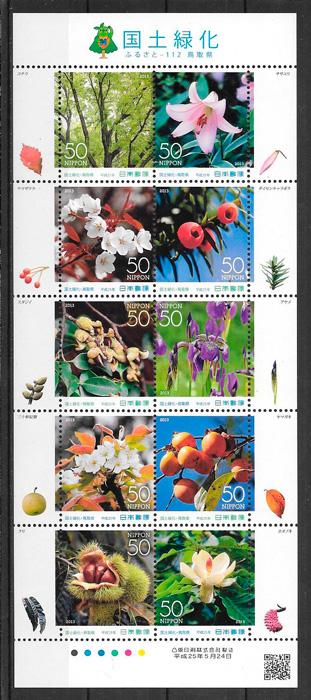 sellos flora Japon 2013