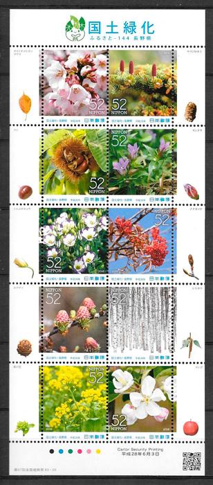 sellos flora Japon 2016
