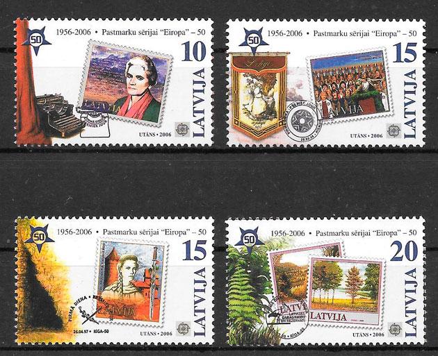 sellos Europa Letonia 2006