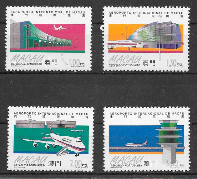 filatelia colección transporte Macao