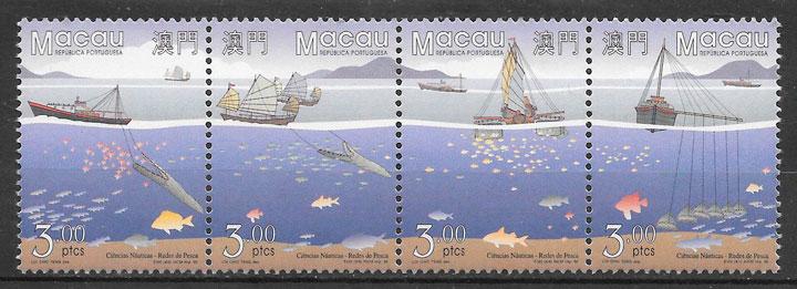 filatelia colección transporte Macao 195