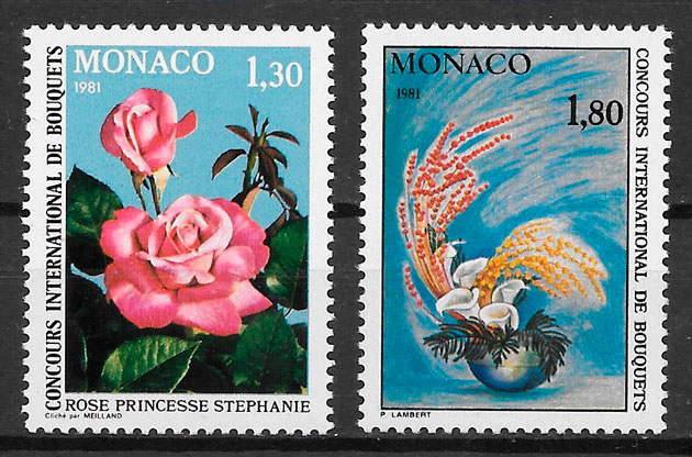 coleccion sellos Monaco 1980