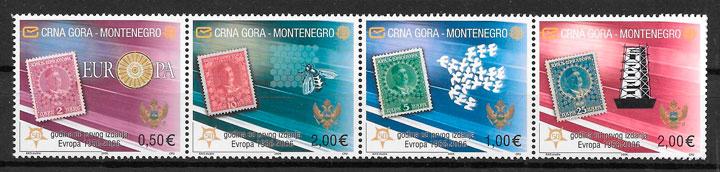 filatelia aniversario 50 del Tema Europa Montenegro