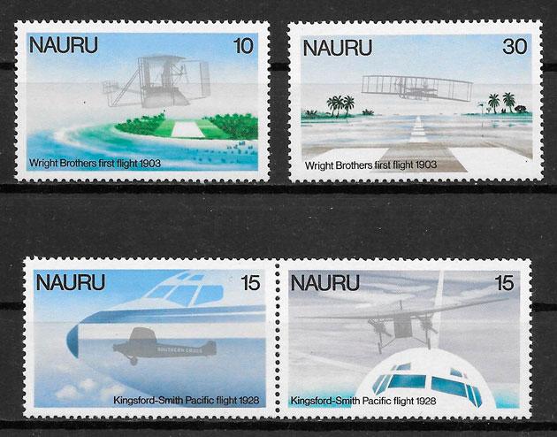 filatelia colección transporte Nauru 1978