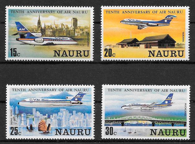 filatelia transporte Nauru 1980