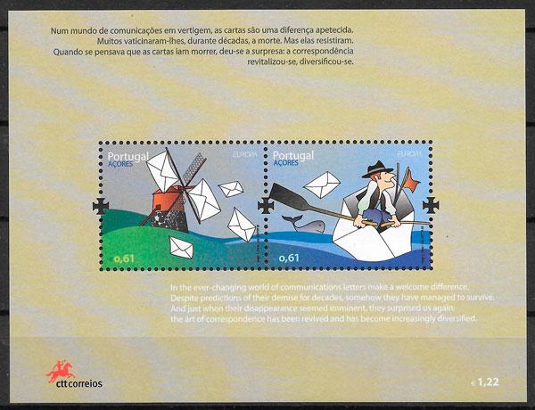 filatelia colección Europa Azores 2008