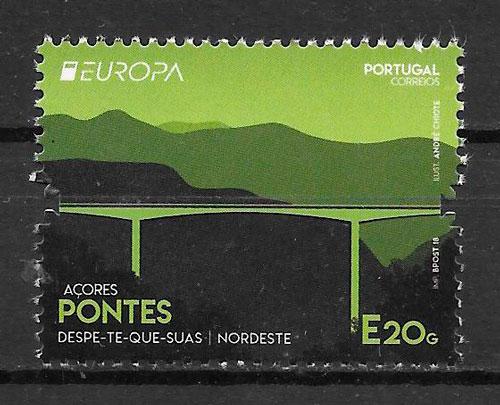 filatelia colección Europa Portugal Azores 2018