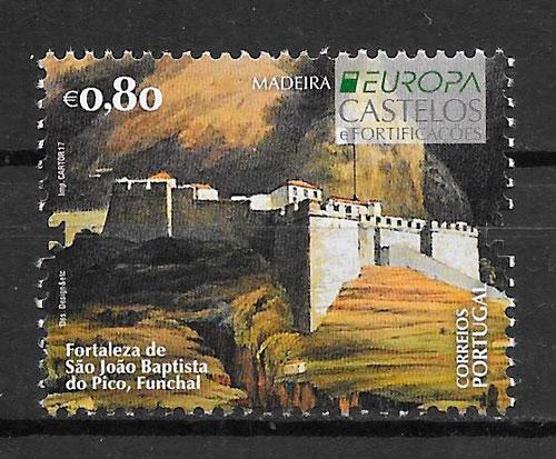 colección sellos Europa Portugal Madeira 2017