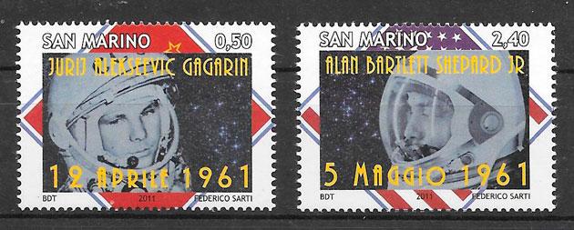 filatelia espacio San Marino 2011