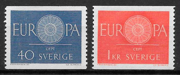 filatelia Europa Suecia 1960