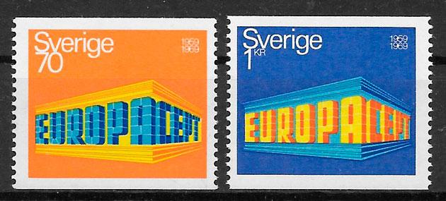 filatelia Europa Suecia 1969