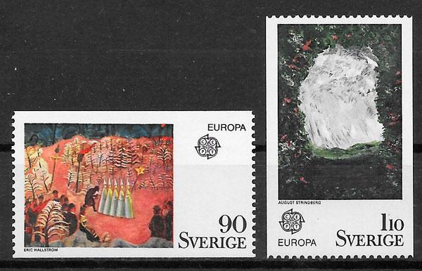 sellos Europa Suecia 1975